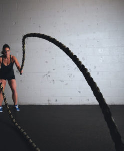 black battle rope