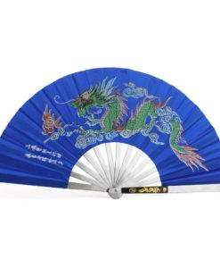 Blue Tai Chi Fan Steel