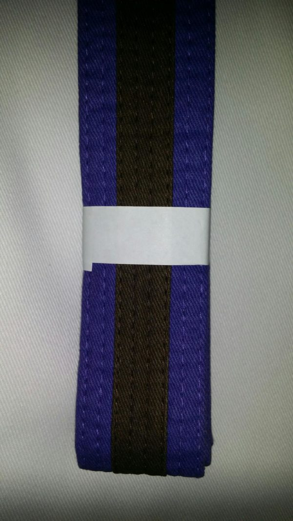 purple belt brown stripe